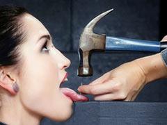 Nailing of tongue