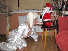Santa fucks a girl