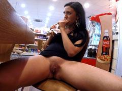 Natalia at the gas station