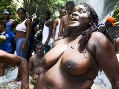 Public African sex