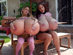 Huge tits milk fountains
