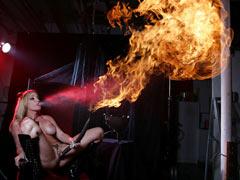 Hot sex fire show