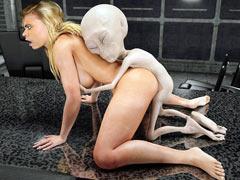 Alien fucks a girl