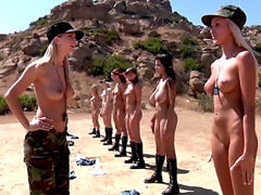 Naked female army