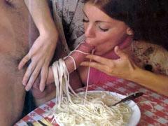 Sausage and spaghetti
