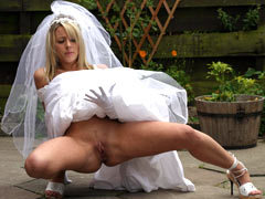 Lustful bride needs sex