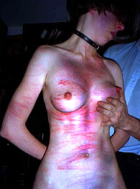 Teen slave girl punished by her Daddy Dom