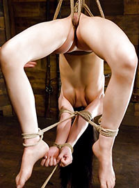 Very flexible girl gets shibari seance from well known Master