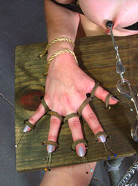 Brutal torture method inserting needles under the nails