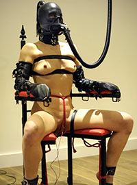The breath play includes various fluids such as urine as well as exhaust fumes