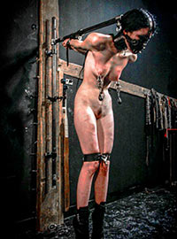 Cruel torture of the anorexic girl in the Amsterdam dungeon