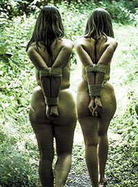 Two teen girls captured in the forest tortured and fucked in all holes