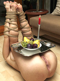 True slave helps her Master spend a pleasant evening at his home in San Francisco