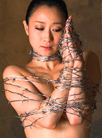 Japanese tortures with barbed wire culminate in numerous cuts and scratches