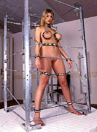 A woman spent three days in an ultra modern cage with almost complete immobilization
