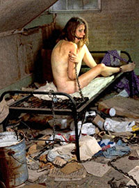 A real slave girl has been living in the basement for two years in poor conditions