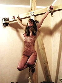The sister became obsessed with pain and suffering after reading religious books and asked her brother to crucify her