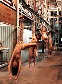 This factory produces obedient slaves and from naughty slaves it makes steaks