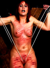 Whipping the vagina of a woman is a very effective form of punishment especially if the whipping is prolonged and the vagina is whipped hard...