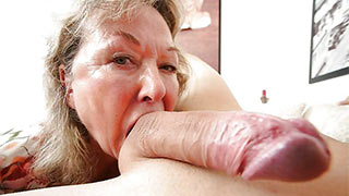 Mature woman sucked his dick