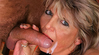 Clean off my cock mature woman