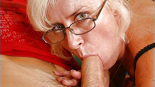 Prick sink into his mature lover's mouth