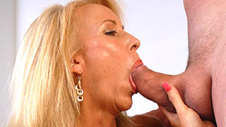 Mature woman swallowed hungrily