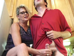 Aunt helps to masturbate