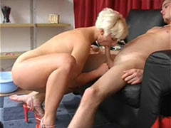 Blonde mature mom fuck boy