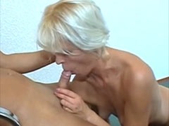 Blonde mature Milf fuck boy