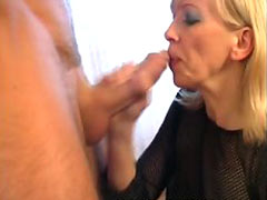 Blonde MILF fucked in throat pussy and ass