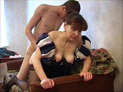 Russian mother with son