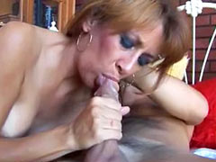 Mature plays with young cock