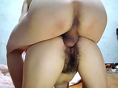 Fucking of hairy mature pussy