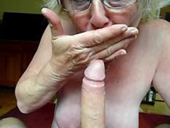 Granny sucking and fucking like hell