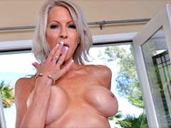 Lustful neighbour mom seduces boy